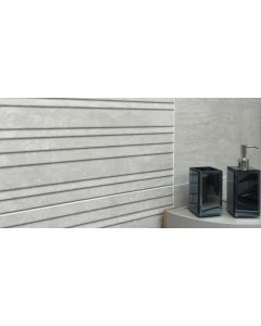 Ground Grey Relieve Decor Tile 300x900